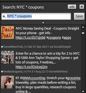 tweetdeck search results